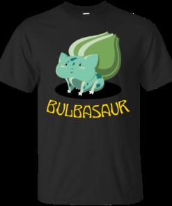 001 Bulbasaur geek Cotton T-Shirt