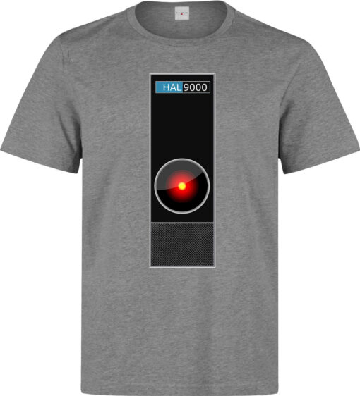 2001 Space Odyssey 9000 Hal Style Illustrations Of Men (Women Available) Gray T Shirt