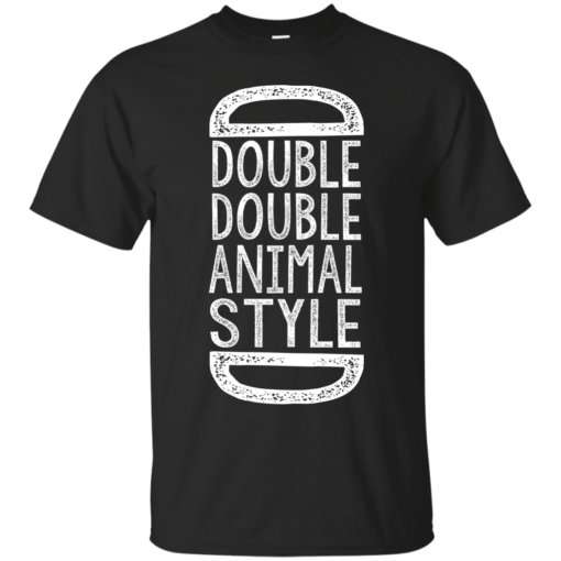 2x2 Animal Style in n out burger Cotton T-Shirt