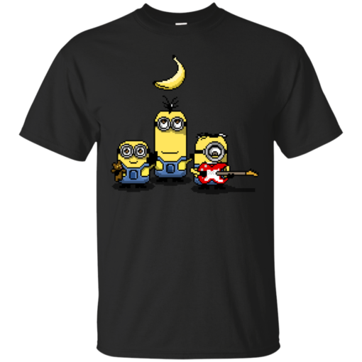 8bitminions despicable me minions Cotton T-Shirt