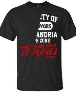 ALEXANDRIA SAFE ZONE NEGAN EDITION Cotton T-Shirt