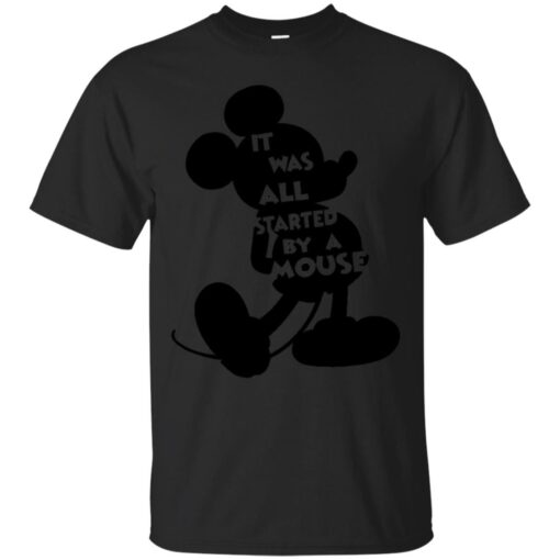 ALL STARTED BY A MOUSE Cotton T-Shirt
