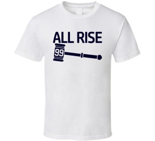 Aaron Judge In New York Baseball Player White All Rise Home Run Derby Champion T Shirt