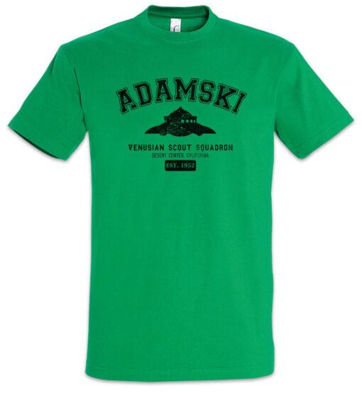"""Adamski Venusian """"J"""" Scout Squad Tee George Alien Ufo Ship Tr3B Sichtung T Shirt"""
