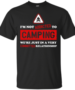 Addicted To Camping palm beach Cotton T-Shirt