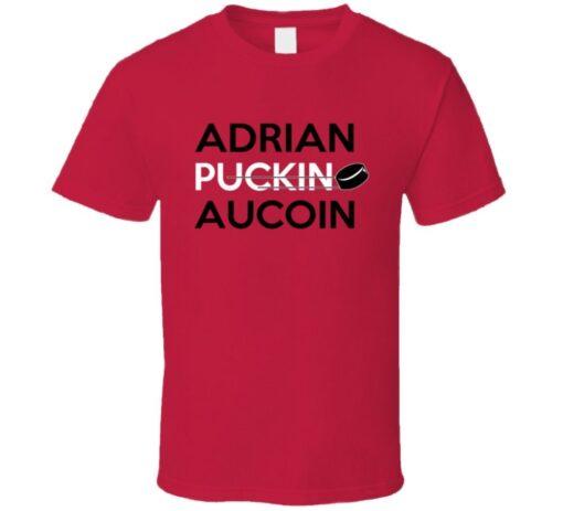 Adrian Aucoin Hockey Calgary Puckin T Shirt