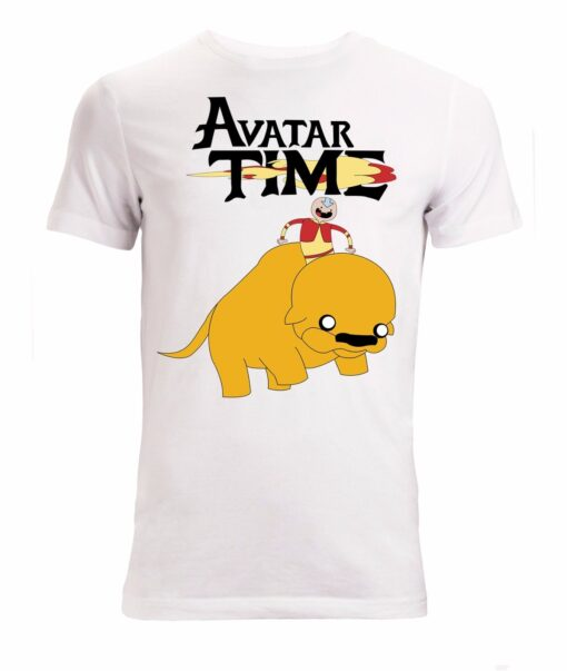 Adventure Time And Avatar The Last Airbender Mashup Art White Top Men T Shirt