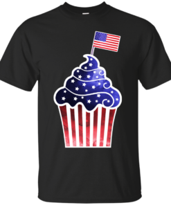 American Cupcake watercolor Cotton T-Shirt