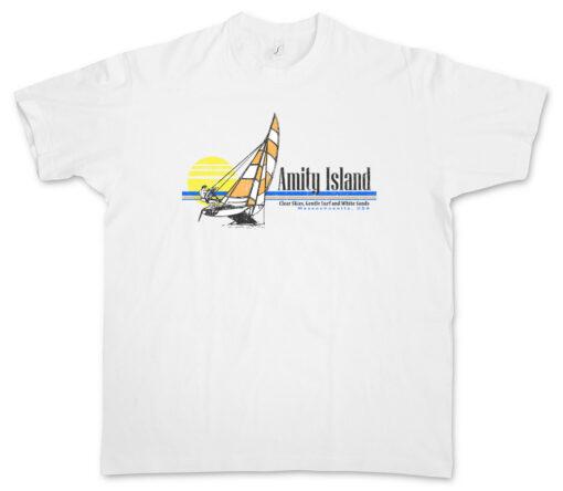 Amity Island Surf Ii The Big Boat Surf Heaven Sand White Shark Ship T Shirt