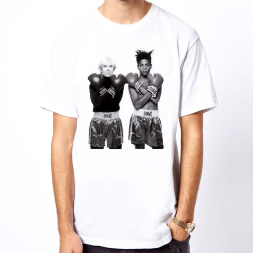 Andy Warhol Pop New Art Photo And Jean Michel Design White T Shirt