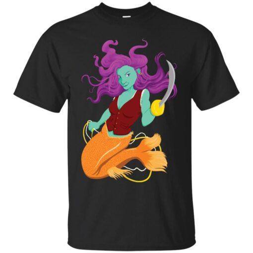Anne the Pirate Mermaid Cotton T-Shirt