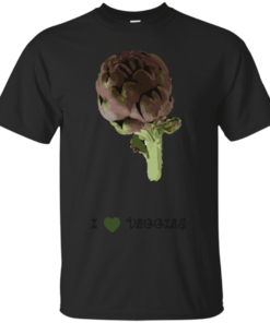 Artichoke I love veggies vegan Cotton T-Shirt