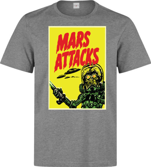 Attack Foreign Invasion Mars Men Funny Film Formed On The Gray Theme T Shirt