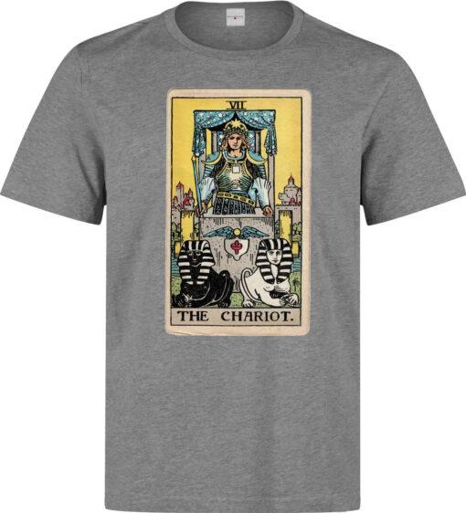(Available For Women) Art Shopping Card Tarot Men Gray Logo T Shirt