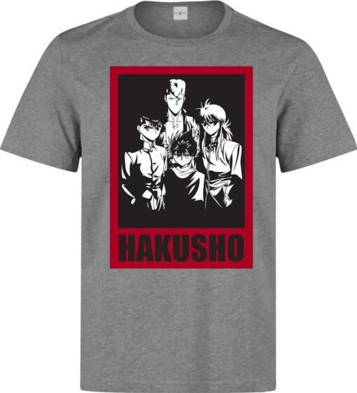 (Available In Women) High Quality Gray Yu Yu Hakusho Men Protagonists T Shirt
