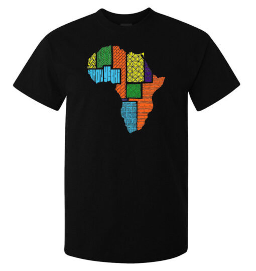 (Available Woman) Black Colorful Mother Africa Tribal Art Men T Shirt