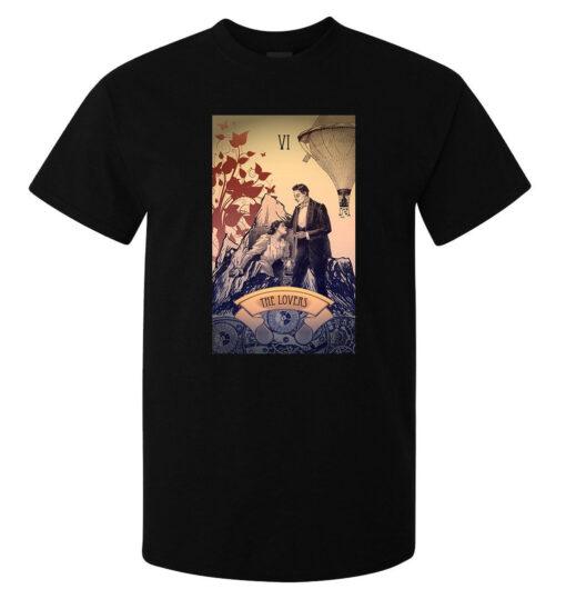 (Available Woman) Black Logo Men Lovers Tarot Card Art T Shirt