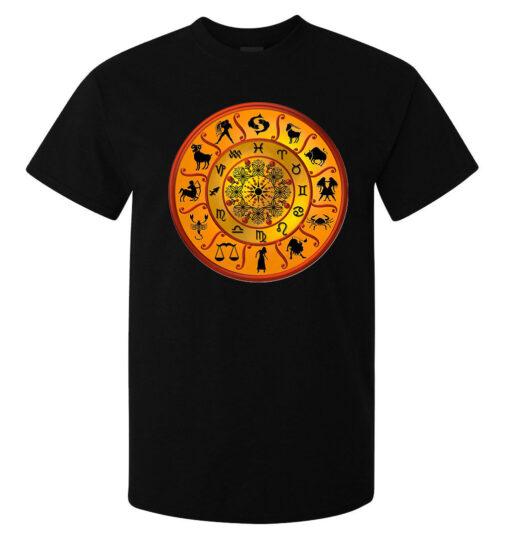 (Available Woman) Black Men'S Zodiac Horoscope Symbol Astrology Art T Shirt