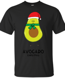 Avocado Christmas christmas Cotton T-Shirt