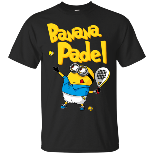 BANANA PADEL BLACK camiseta de padel Cotton T-Shirt