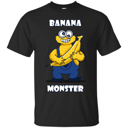 Banana Monster cookie monster minion Cotton T-Shirt