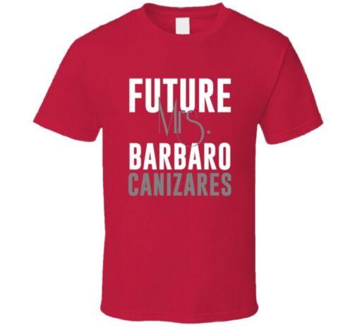 Barbaro Canizares 2009 Future Mrs. Atlanta Baseball T Shirt