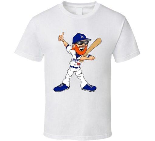 Baseball Fan Justin Turner The Dodgers World Series Mvp Barba Cartoon T T Shirt