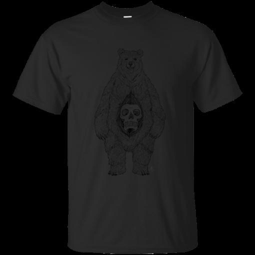 Bear Skull Belly hip Cotton T-Shirt
