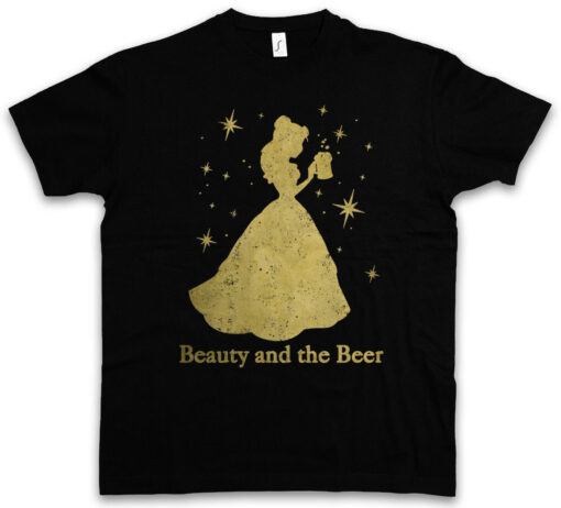 Beauty And Beer Fun Tee Intoxicated Drunk Alcohol