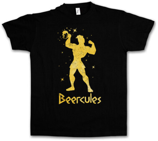 Beercules Fun Tee Wasted Intoxicated Drunk Alcohol Hangover Drunk Party T Shirt