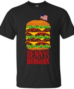 Bennys Burgers from Stranger Things Cotton T-Shirt