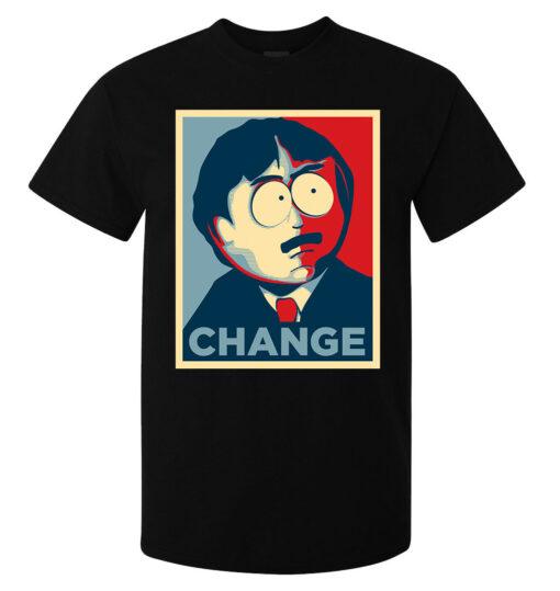 Black Top Men'S Style South Park Randy Marsh Change Obama Election T Shirt
