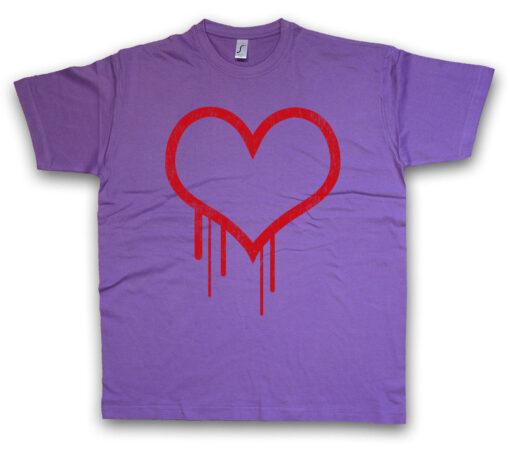 Bleeding Heart Ii Bloody Valentine Hearts Gore Splatter Tattoo T Shirt