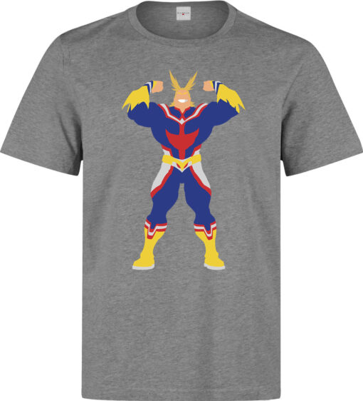 Boku No Hero Academia Strength All High-Quality Gray Minimalist Men T Shirt