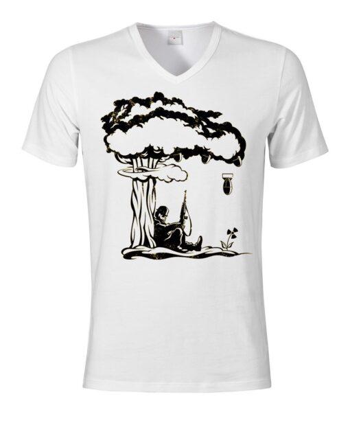 Bomb Fallout Surreal Art Men V-Neck V-Neck T Shirt