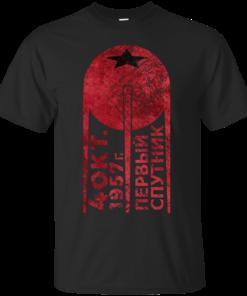 CCCP Sputnik 1 First Satellite Blood Edition Cotton T-Shirt