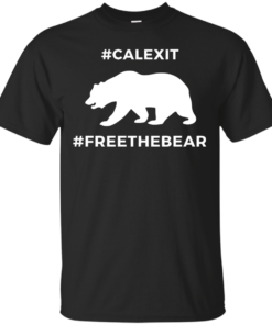 Calexit Free The Bear Cotton T-Shirt