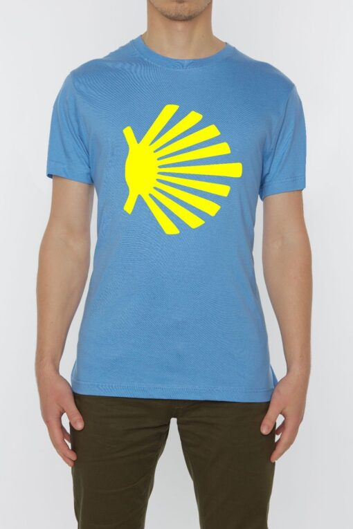 Camino De Santiago Scalob Shell Piligrim Symbol Men Top Quality Blue T Shirt