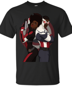Captain America and Misty Knight Cotton T-Shirt