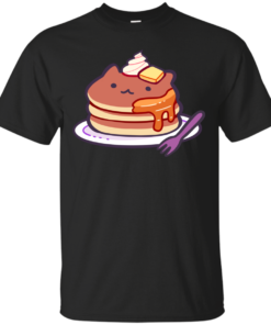 Cat Pancakes Cotton T-Shirt