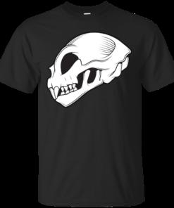 Cat Skull Cotton T-Shirt
