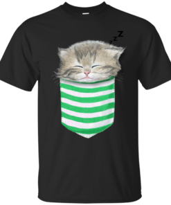 Cat in the pocket Cotton T-Shirt