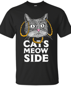 Cats Meow Side Cotton T-Shirt