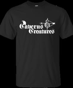 Caverns Creatures White Cotton T-Shirt