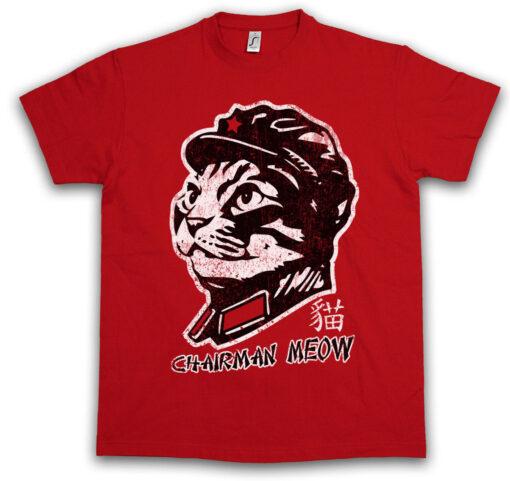 Chairman Meow Mao Zedong Ca Cats Socialism Communist Communism Fun T Shirt
