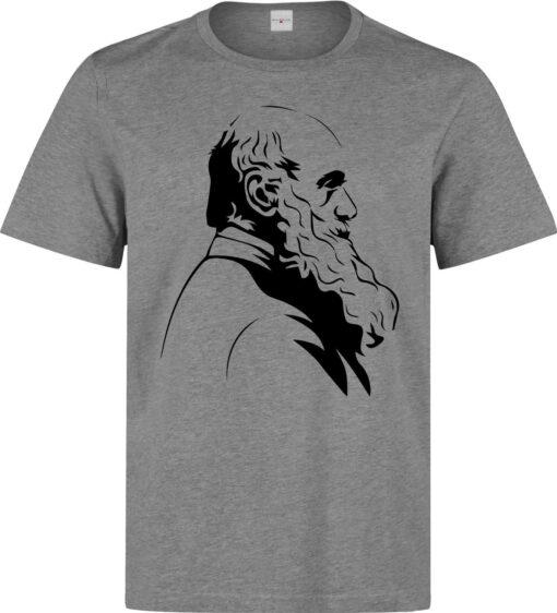 Charles Darwin Famous Biologist Profile Men (Women) Available Gray T Shirt