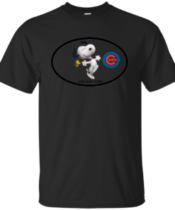 Chicago Cubs and Snoopy Cotton T-Shirt