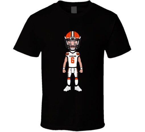 Cleveland Mayfield Baker Cartoon Football Cool Fan T Shirt