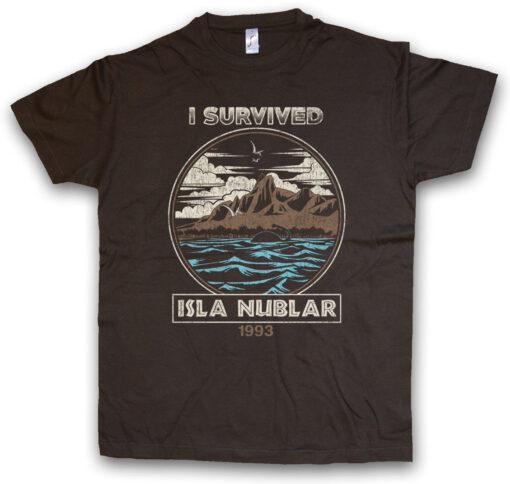 Clouded Ii Survived Tee Fun Island Jurassic Park Dinosaur Tyrannosaurus Rex T T Shirt