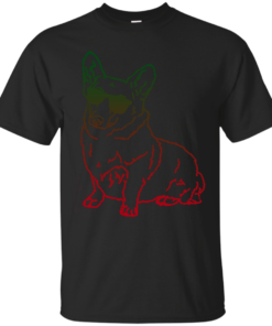 Corgi glass Cotton T-Shirt